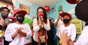 Menteri Pemberdayaan Perempuan dan Perlindungan Anak (PPPA), Bintang Puspayoga saat menghadiri kegiatan Hari Anak Nasional (HAN) 2020 Provinsi Sulawesi Selatan pekan lalu