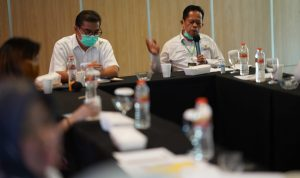 Kemensos melalui tim Biro Umum dan Poltekesos Bandung menggelar rapat membahas Grand Design Kamus.